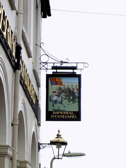 The Imperial Standard pub sign, Aldershot