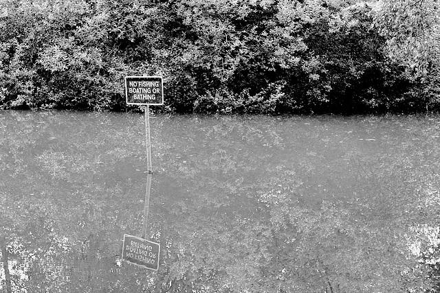 No fishing, boating or bathing