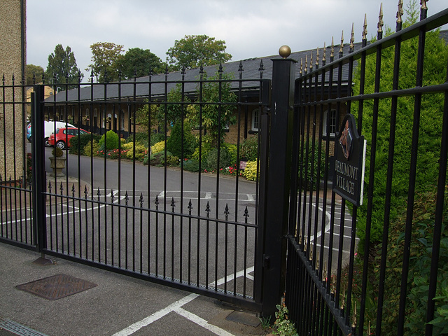 Entrance gates to Beaumont Village