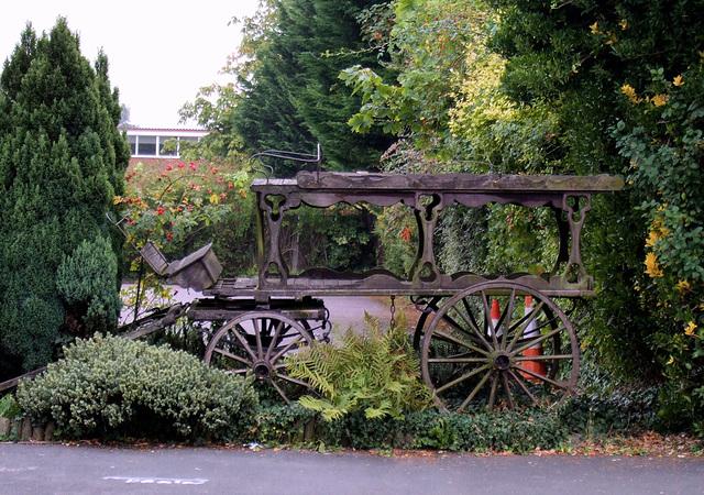 Horse drawn hearse - The Running Stream, Weybourne