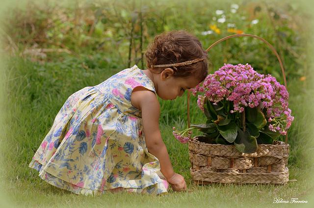 Melissa - loves the garden.