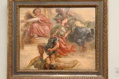 """""""La sagesse éloignant la rébellion armée du trône de Jacques 1er d'Angleterre"""" (Peter Paul Rubens)"""