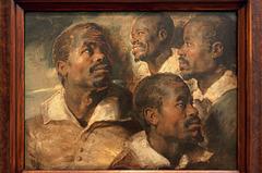 """""""Quatre études de la tête d'un Maure"""" (Peter Paul Rubens)"""