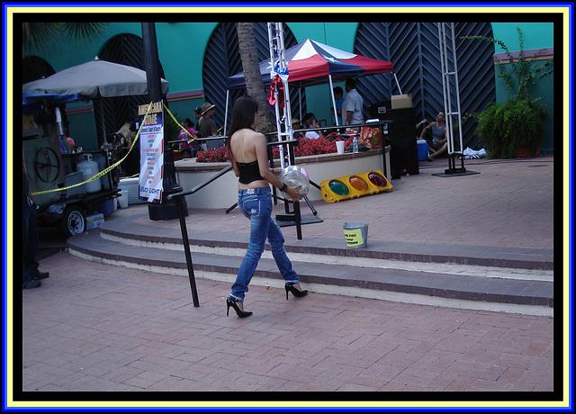 Bud Light Spanish girl in high heels