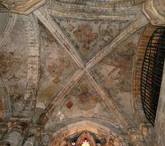 Aisle vaulted ceiling, Dunfermline Abbey, Fife, Scotland