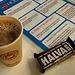 Hot chocolate coffee and halva...