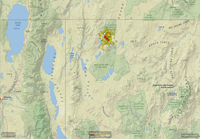 Earthquake Swarm NW Nevada