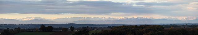 Les Pyrénées vue du Gers