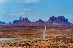 Approaching Monument Valley - Tribal Park of the Navajo Nation - Along US 163 (210°)
