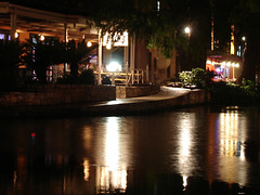 Walking by the night on the River Walk.