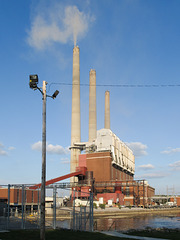 The Lansing municipal power plant burns its way through a batch of Wyoming coal.