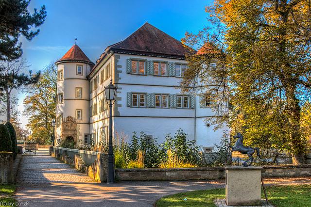 Das Wasserschloss in Bad Rappenau (240°)