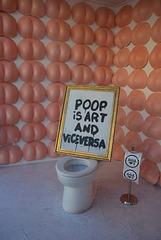 Poop is art and vice versa