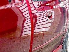 Reflection on Car Door