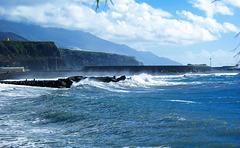 La Palma, Puerto de Tazacorte. Atlantik. ©UdoSm