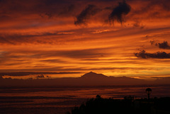 La Palma. Abandrot über den Kanarischen Inseln.  ©UdoSm
