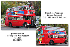 Ensignbuses' RT8 FXT 183 - London - 30.10.2014