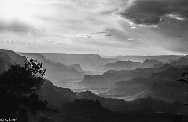 Thunderstorm clearing - Grand Canyon 1980 (120°)