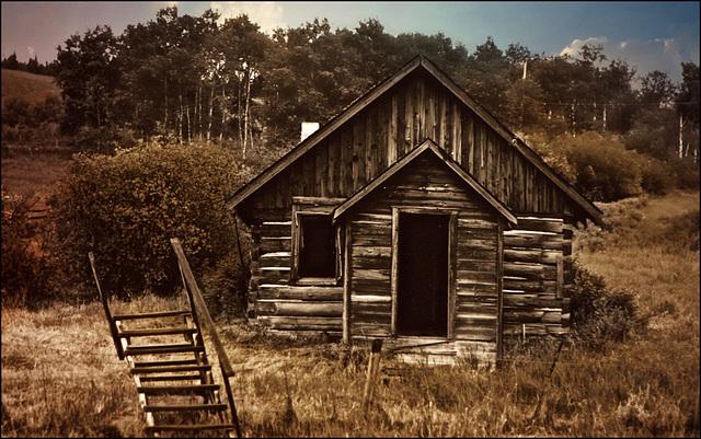 Old schoolhouse near Lac La Hache, BC