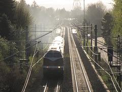 118 770-7 fährt mit einem Sonderzug von Chemnitz Richtung Bayreuth