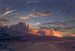 Nightfall, Monument Valley, 1978