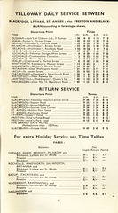 Yelloway Oldham-Blackpool service timetable 1932