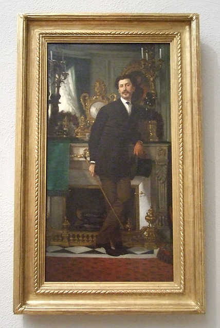 Portrait of Eugene Coppens de Fontenay by Tissot in the Philadelphia Museum of Art, August 2009