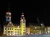 Chemnitzer Rathaus bei Nacht