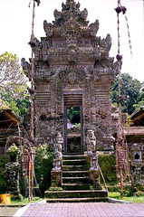 Bali,  Penglipuran, Dorf-Tempel Eingang. ©UdoSm