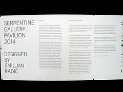 Serpentine Pavilion 2014 Sign