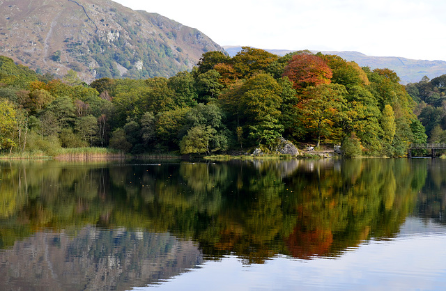 The first touch of Autumn on Grasmere