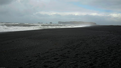 Black Beach on the South Coast of Iceland