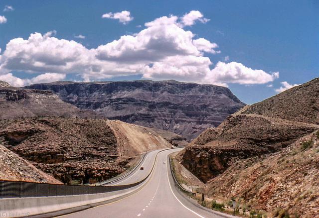 I-15 Into Virgin River Canyon, Arizona - May 1980