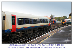 Trains crossing at Clapham Junction - 30.10.2014
