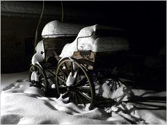 L'année dernière à la même époque, 60 cm de neige, 3 jours sans électricité à cause de la chute des arbres...