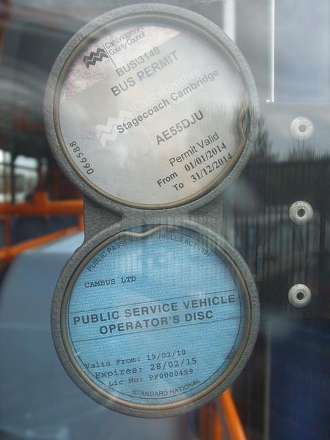 DSCF6428 Stagecoach Cambus discs AE55 DJU
