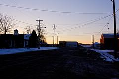 The Sun Setting on Main Street