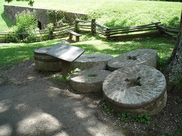 Mill stone /Rural life in Appalachia.