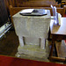 Church of St Laurence, Seale - the font
