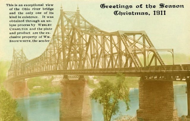Sewickley Bridge, Greetings of the Season, Christmas, 1911