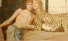 """""""Les caresses""""  (Fernand Khnopff) (détail)"""