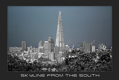 Skyline from the south - London - 28.10.2014