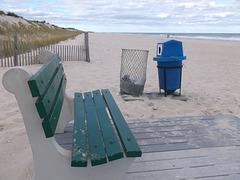 Banc pour bain de sable
