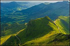 Blick in die Vulkanlandschaft