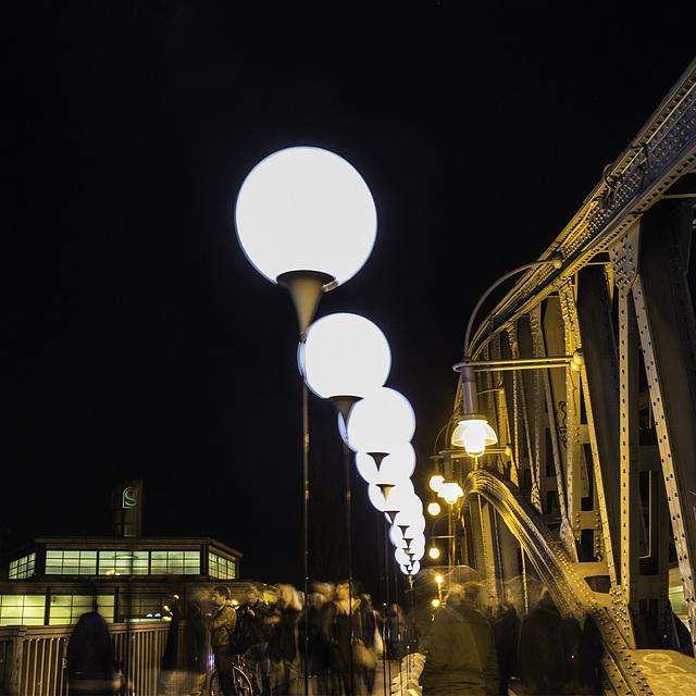 Berlin. Bornholmer Brücke. 9. November 2014