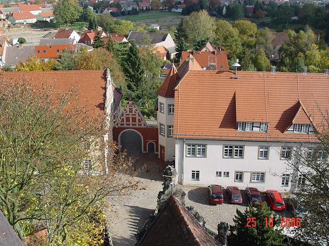 Wiesenburg / Mark, Blick vom Schlossturm