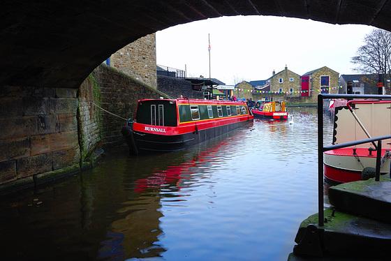 Canal boats at Skipton.