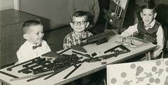 Lincoln Logs, Kindergarten Class, Baltimore, Md., 1965-66