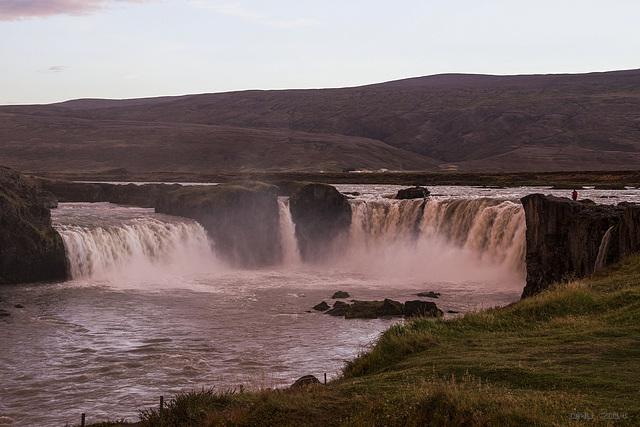 Goðafoss Waterfall In The Evening Sun