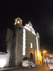 Blurry church at night....